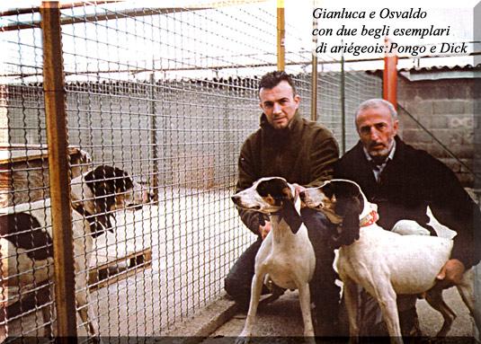 Gianluca e Osvaldo con due bei esemplari di ariégeois:pongo e dick